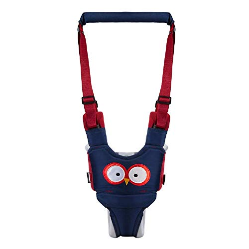 Infant Baby Walker Harness Assistant Belt, Adjustable Baby Walking Harness, Baby Walker with Handle for Toddler 6-24 Months(Blue)