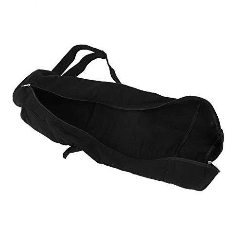 ZNQPLF Yoga Mat Multifuncional Bolsa Mochila De Gran Capacidad Yoga Mat Bolsa Lienzo Pilates Gym Cojín Portador De La Bolsa con Correa Ajustable (Color : Black)