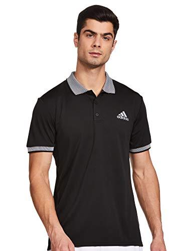 adidas Club Solid Polo de Tenis, Hombre, Negro, S