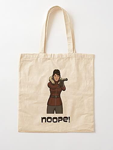 Generic Kane TV Comedy Funny FX Lana Serie Archer Drinking | Einkaufstaschen aus Leinen mit Griffen, Einkaufstaschen aus robuster Baumwolle