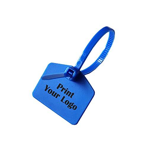 Muka Kabelbinder aus Nylon, selbstschließend, mit beschriftbaren Etiketten, beidseitiger Druck durch Laser, 100 Stück, blau (Blau) - PSSK-CM89113_BLUE-6INCH