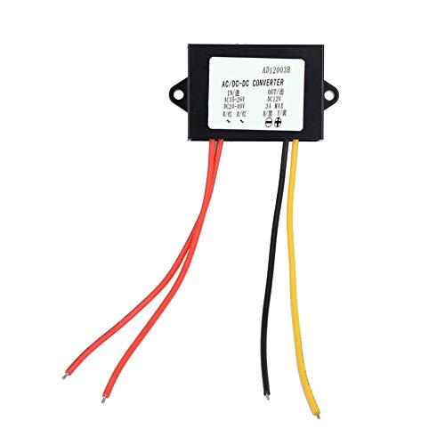 AC-DC Buck Converter, AC 24V bis DC12V 3A Stromversorgungsmodul Konverter Regler für Auto Audio Motor, Step Down Modul mit LED Anzeige
