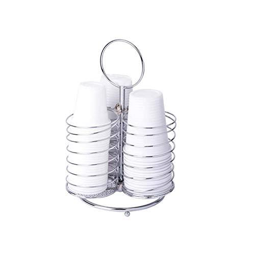 Porta bicchieri in acciaio 17x17x24 cm