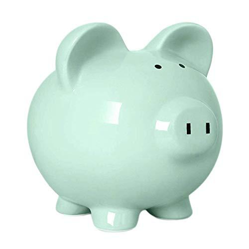 GPWDSN Hucha para Ahorrar Dinero - Cerdo de cerámica Rosa Hucha - Ideal para Monedas y Billetes Ahorro Seguro Regalo en Efectivo Llave de Novedad (B)