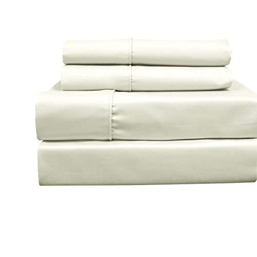 sheetsnthings - Set di lenzuola per letto matrimoniale king size a 650 fili, in misto cotone, 4 pezzi