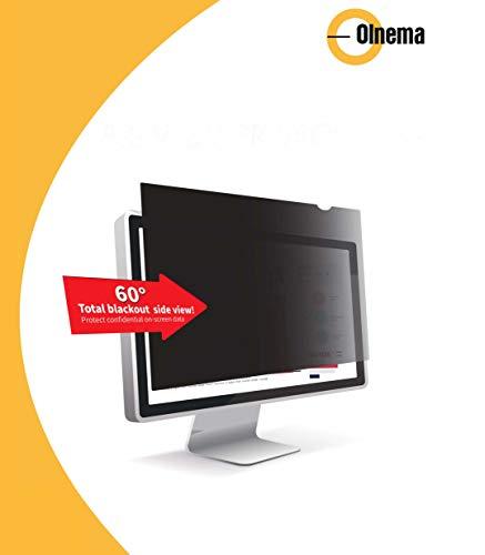 Olnema Computer und PC Monitor Blickschutz Folie I Sichtschutz Folie I Desktop Privacy Filter I Blickschutzfilter I Anti-Spy Folie 23.8 Zoll (16:9) - 528x297mm Breitbild