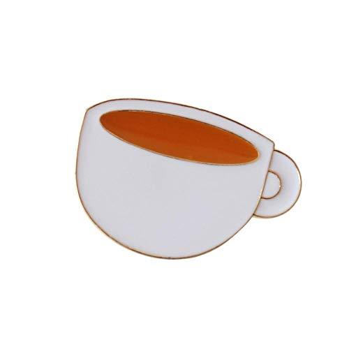 Zxx17 Geeignet für Weihnachten Hochzeit Dekoration Geburtstags Geschenk Kleidung Dekoration Schmuck Zubehör,Klassische Kaffeetasse Serie Cartoon Mode Kragen Pin Brosche @ Tasse