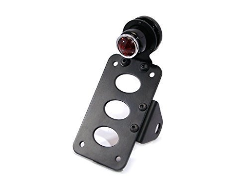 Retro Side Mount Motorcycle Motorbike Stop/Tail Light with License Plate/Number Plate Holder Bracket
