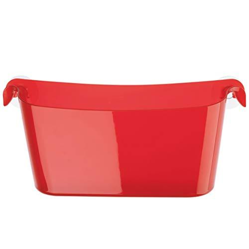 koziol rangement à suspendre Boks, thermoplastique, rouge transparent, 10,5 x 35 x 15,8 cm