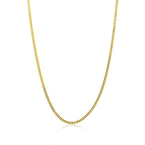 Miore Kette Damen Panzer Halskette Gelbgold 14 Karat / 585 Gold, Länge 45 cm Schmuck