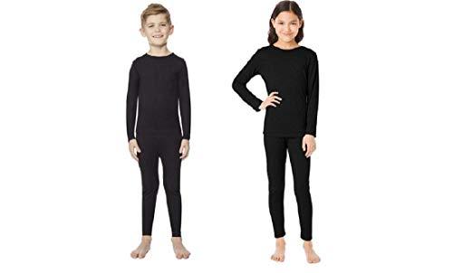 Kids Heat Baselayer Set, Black, Small