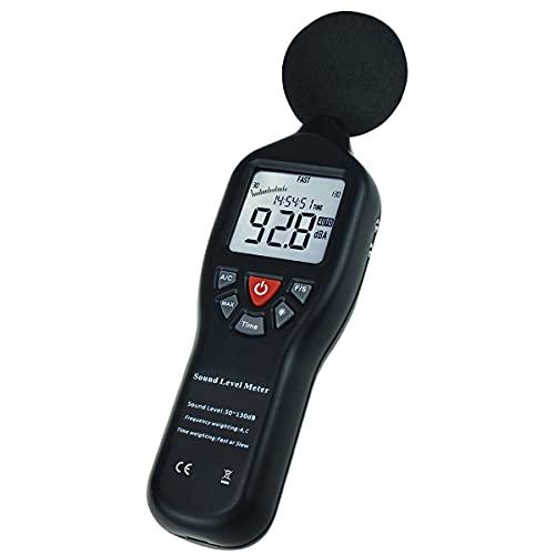 Digitaler Schallpegelmesser mit Stativhalterung Hintergrundbeleuchtungsanzeige Hohe Genauigkeit Messung von 30 dB bis 130 dB(Schallmesser)