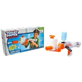 Toilet Paper Blaster Candide Branco/Laranja