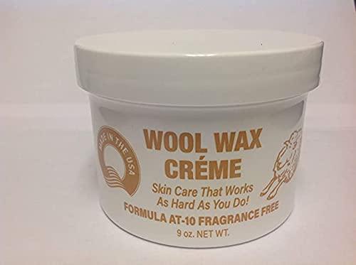 Wool Wax Creme Skin Care Formula AT-10 Fragrance Free 9 oz. (Pack of 12)
