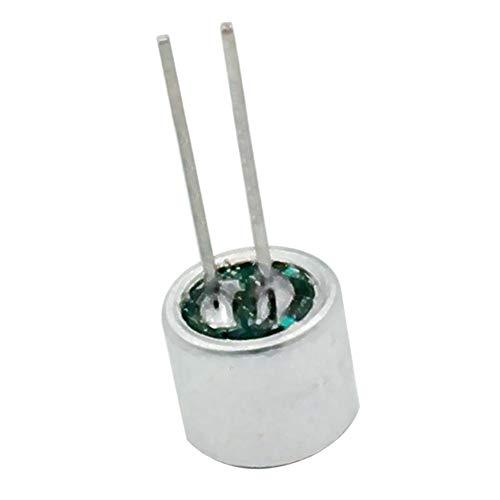 Muzhili3 6050P 10Pcs Microfono a condensatore Electret a 2 Pin Inserti Microfono Pickup