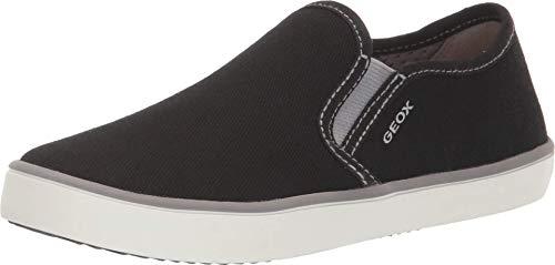 Geox J Kilwi Boy A, Zapatillas sin Cordones para Niños, Negro (Black/Grey C0017), 26 EU