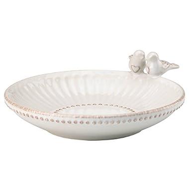 Lenox 866266 French Perle White Love Birds Ring Dish