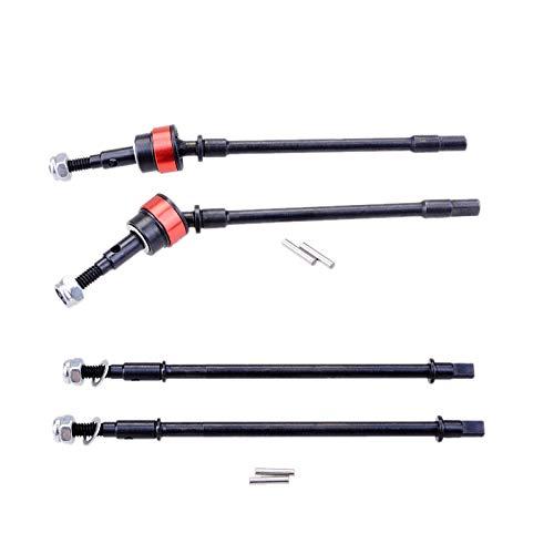 Nrpfell 4 StüCke Harte Vorder- und Hinter Achse CVD Antriebswelle Dogbone für 1/10 RC Crawler Axial Scx10
