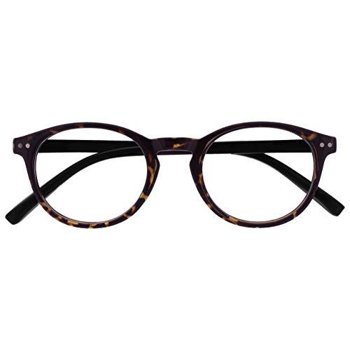Opulize Zen Distanzgläser Kurzsichtig Kurzsichtigkeit Klein Runden Dunkel Braun Herren Damen M24-2 -2,00