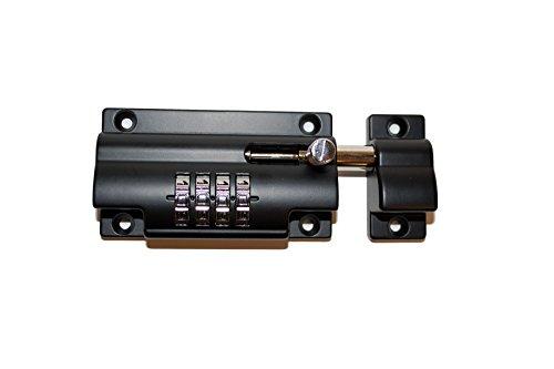 Vault Locks 4 Digit Set Your Own Combination Sliding Barrel Bolt Lock, Black