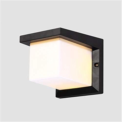YLCJ LED wandlamp wandlamp wandlamp wandlamp wandlamp wandlamp Sconces Patio buiten waterdicht aluminiumlegering Oacute n wand vierkant sala BS-12,5 x 12,5 x 26 cm