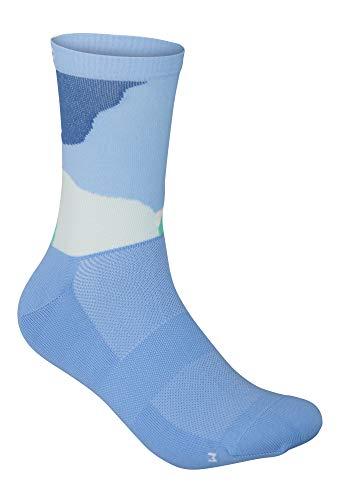 POC Essential Print Sock Calcetines, Color Splashes Multi Basalt Blue, S Unisex Adulto