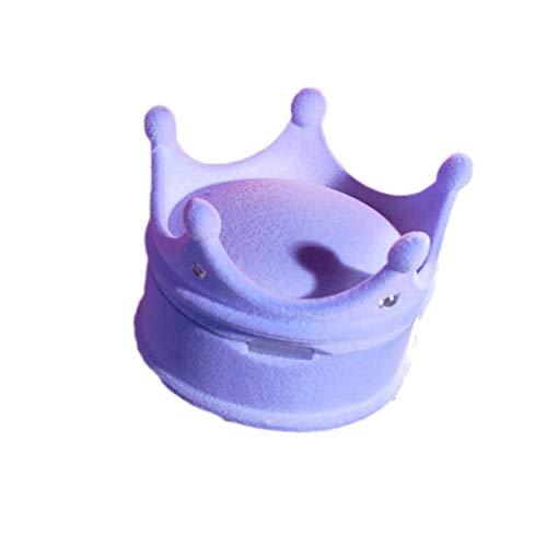 Preisvergleich Produktbild LiaoShaoQing Schmuckschatulle mit Prinzessinnen-Krone,  für Ringe / Ohrringe,  Hochzeits-Geschenk-Box
