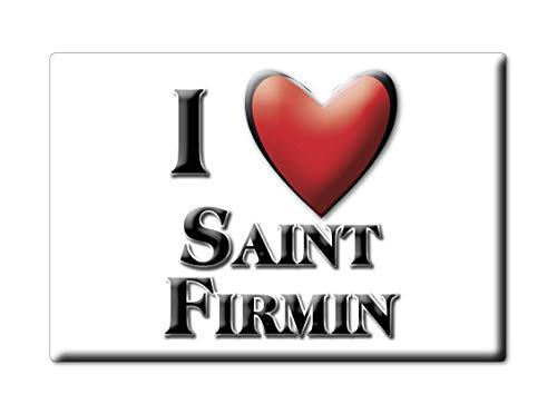 Enjoymagnets Saint FIRMIN (58) Souvenir IMANES DE Nevera Francia RHÔNE Alpes IMAN Fridge Magnet Corazon I Love