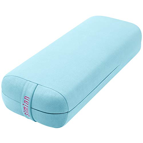 Simian Yoga Bolster Pillow Premium Meditation Bolsters Supportive Rectangular Cushion with Skin-Friendly Velvet Cover Washable, Support Cushions Bolster Pillows for Restorative Yoga,Yin Yoga