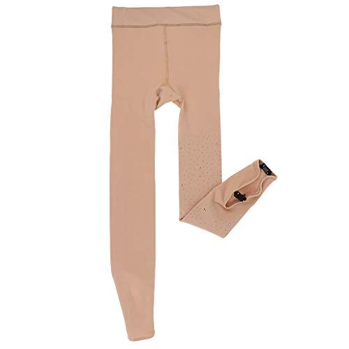 perfk Frauen Ballettstrumpfhose Strumpfhose Thermostrumpfhose Eiskunstlauf - Hautfarbe, Footless S