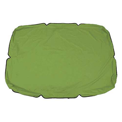 Cubierta de repuesto para toldo de columpio al aire libre, para patio, jardín, hamaca o columpio, para cojín de asiento (azul)