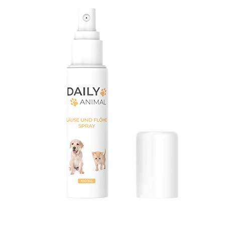 PowerSupps Daily Animal - Läuse & Flöhe Spray für Hunde & Katzen mit Sofortwirkung - 100 ml Sprühflasche - hochwirksam - Haustier - Laus - Floh