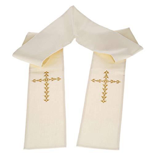 Holyart Etole liturgie avec décor Croix dorée Fleurs