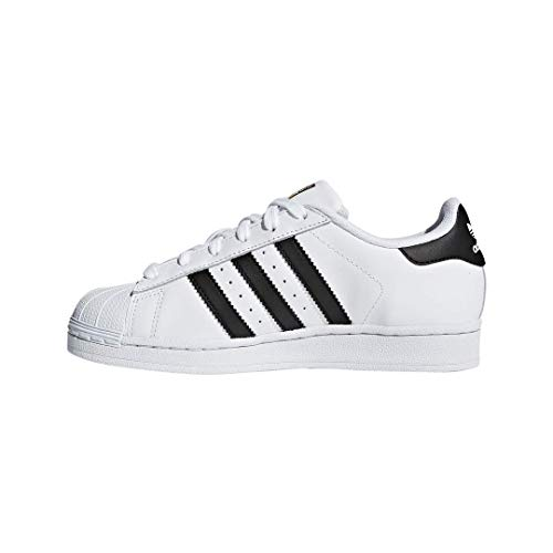 adidas Originals Kids' Superstar Foundation EL C Sneaker, White/Black/White, 3 M US Little Kid