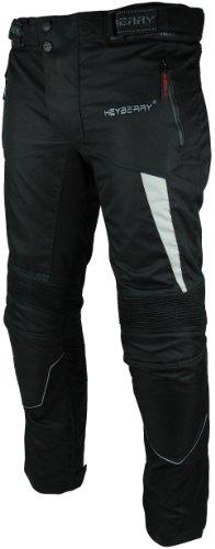 HEYBERRY Motorradhose Textil Schwarz Grau Gr. XXL