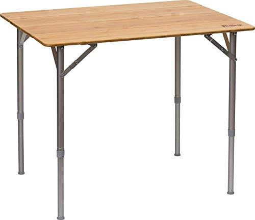 Berger Falttisch Carry Tisch Aluminium Campingtisch Bambus Gartentisch Balkon Festival