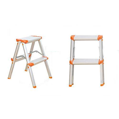 YYTY12 Ligstoel, trapladder, dubbelzijdig aluminium kunststof, dubbelzijdig anti-slip vouwen eenvoudig thuis keuken garage op te bergen A B