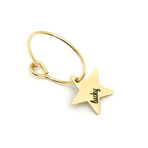 Orecchino singolo Donna Gioielli Marlù cerchio stella - Lucky cod.18OR052G