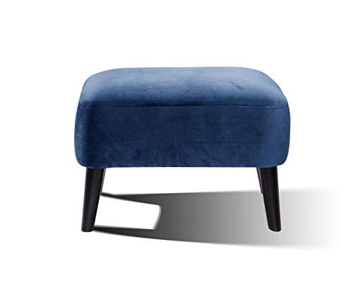 Sit Möbel Sit4Sofa - Funda para taburete (65 x 49 x 45 cm), color azul y negro