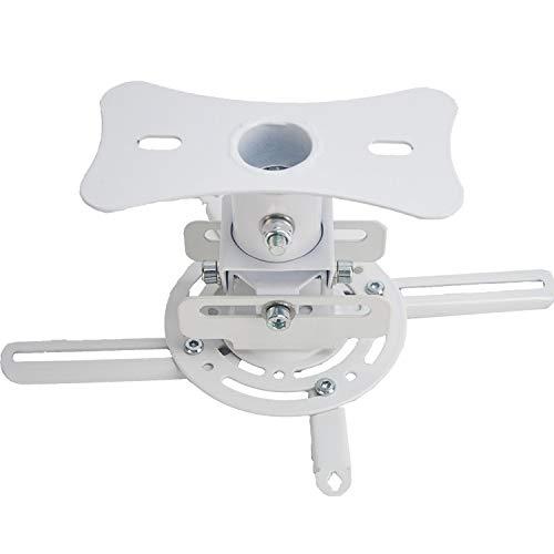 Luxburg® Universal 360° Projektor Beamer Deckenhalterung bis 20kg, drehbar und neigbar bis 60° - weiß