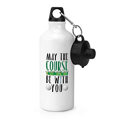 Gift Base May The Course Be With You Golf Sportflasche