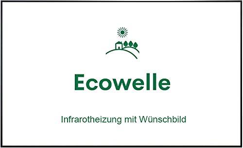 Ecowelle Eigenes Bild & Foto Infrarot Heizung mit Herstellergarantie - Made in Germany - Infrarotheizung mit Wünschbild (900 Watt, Schwarze Alurahmen)