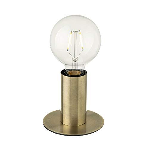Lámpara de mesa de metal dorada de 12x12x20 cm
