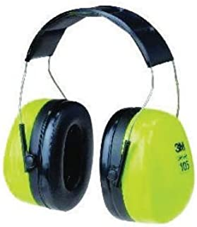 3M Peltor Optime 105 Hi-Viz Green And Black ABS Over-The-Head Hearing Conservation Earmuffs With Liquid/Foam Earmuff Cushions