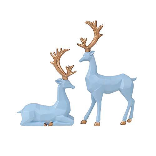Figurillas Decorativas Moderno minimalista luz de lujo decoraciones de lujo muebles para el hogar adornos de sala de estar gabinete de televisión gabinete de vino resina escultura ciervos donaming reg