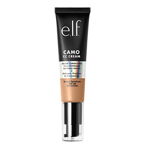 e.l.f. Camo CC Cream   Color Correcting Full Coverage Foundation with SPF 30   Medium 355 W   1.05 Oz (30g)