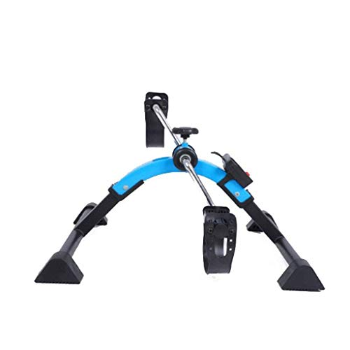 AUKLM Mini Exercise Bike Under The Table with Digital Display and Adjustable Resistance,Indoor Portable for Office Lounge Gym Household,The Best Gift for Parents Elderly and Arthritis Sufferers