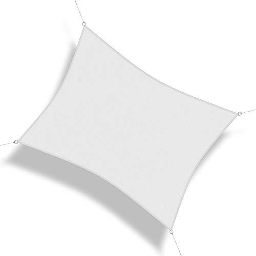 Corasol COR10 Voile d'ombrage perméable 3,5 x 4,5 m Blanc