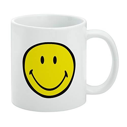 Smiley Smile Happy Yellow Face White Mug