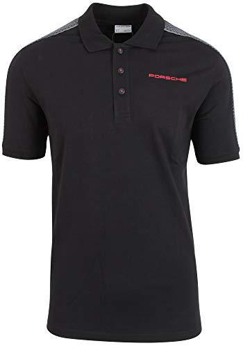 Porsche Herren Polo-Shirt Gr. XL, schwarz/grau, Racing Kollektion - WAP4510XL0H